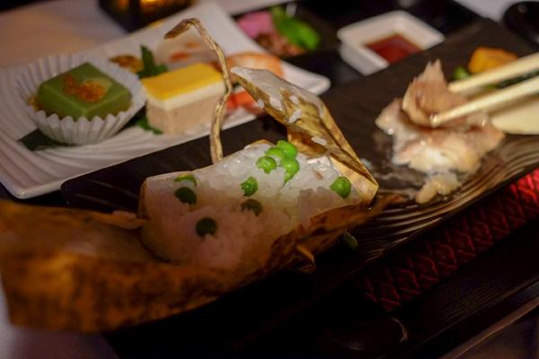 カタール航空ビジネスクラスの機内食 和食 夜 2(成田 - ドーハ QR807)