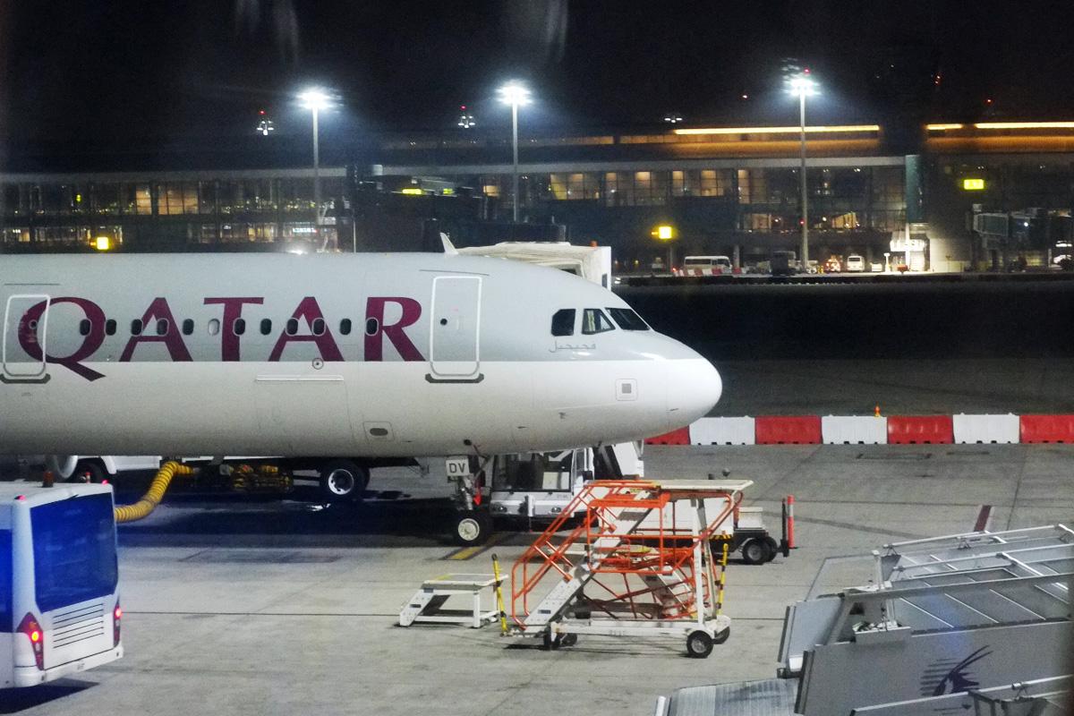 カタール航空の機体(カタール航空 ビジネスクラス)