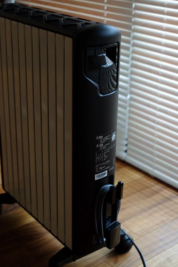 リビング の 暖房 マルチダイナミックヒーター は コードも絡まない
